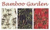 BAMBOO GARDEN: Black, Cream, Red