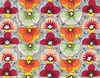 BELLA STRADA: Modern Floral Design - Multi-Color Brick (1/2 Yd.)
