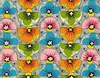 BELLA STRADA: Modern Floral Design: Multi-Color Bright (1/2 Yd.)