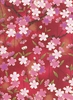 CASCADING CHERRY BLOSSOMS: Red (1/2 Yd.)