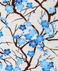 CHERRY BLOSSOM BRANCHES: Blue (1/2 Yd)