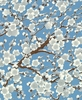 Cherry Blossom Dreamscape: Frost/Silver (1/2 Yd.)