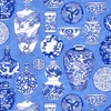 Chinese Porcelain Collection: Cobalt Blue (1/2 Yd)