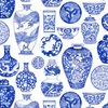 Chinese Porcelain Collection: White (1/2 Yd)