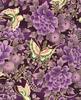 CHO CHO Collection: Butterflies in Floral Garden - Purple (1/2 Yd.)