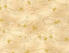 CHO CHO Collection: Gold Butterflies - Cream (1/2 Yd.)