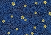 CHRYSANTHEMUM BURSTS: INDIGO (1/2 YD)