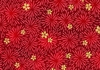 CHRYSANTHEMUM BURSTS - Red/Gold (1/2 Yd)