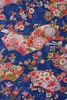 Colorful Japanese Kimono Design: Blue (1/2 Yd.)