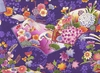 Colorful Japanese Kimono Design: Purple (1/2 Yd.)