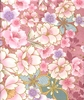 COTTON SATEEN: Cherry Blossoms - Blush Pink/Gold (1/2 Yd)