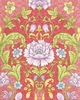 COTTON SATEEN: Floral Filigrees - Rose (1/2 Yd.)