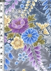 COTTON SATEEN WISTERIA: Blue (1/2 yd)