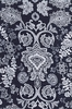 NEW!!!   DAMASK LACE DESIGN: INDIGO KATAGAMI (1/2 YD)