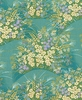 Delicate Ornamental Grass & Floral Display: Jade Green (1/2 Yd.)