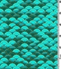DRAGON MOON: Waves - Teal/Gold (1/2 Yd.)