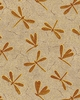 DRAGONFLY FOSSILS: Brown (1/2 Yd.)