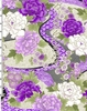 EXOTIC GARDEN: Purple (1/2 Yd.)