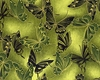 FANCY FLIGHT: Butterflies - Green/Gold (1/2 Yd.)