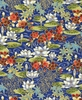 Floating Water Lily Garden: Blue (1/2 Yd.)