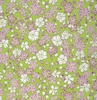 'FLOATING WORLD' Cherry Blossoms Afloat: Green (1/2 Yd.)