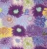 'FLOATING WORLD' Chrysanthemum Bliss: Purple (1/2 Yd.)