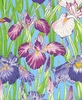 'FLOATING WORLD' Field of Irises: Purple (1/2 Yd.)