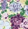 'FLOATING WORLD' Floral Garden: Purple (1/2 Yd.)