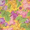 Floral Garden Beauties: Yellow, Lilac (1/2 Yd.)