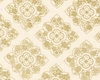 FLORAL MEDALLIONS IN GOLD METALLIC: Ivory (1/2 Yd.)