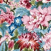 Floral Sensations: Raspberry Red, Ivory, Blue (1/2 Yd.)
