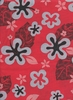 FUN TROPICAL POLY/COTTON FABRIC: Red (BTY)