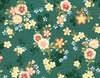 GARDEN OF DREAMS - BLOSSOMS AFLOAT: GREEN (1/2 YD.)