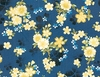 GARDEN OF DREAMS - BLOSSOMS AFLOAT: Indigo (1/2 YD.)