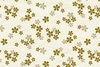 GOLD METALLIC DESIGNS: Cherry Blossoms - White (1/2 Yd.)