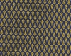 GOLD METALLIC LEAF SPRIGS: Navy Blue (1/2 Yd.)