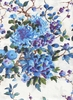 GRACE: Floral Branches - Blue (1/2 Yd.)