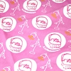 "Handkerchief with Adorable Cats: Pink (20"" Square)"