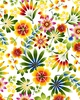 HAPPY GARDEN:  Large Scale Floral (1/2 Yd.)