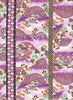 Hills of Flowers: Purple/Gold (1/2 Yd.)