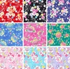 Japanese Florals w/ Silver Metallic Glitter - Japan Import