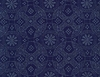 JAPANESE INDIGO FABRIC: Circle Motif of Traditional Designs (1/2 YD)