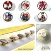 Japanese Reproduction Satsuma Buttons: Set of 6