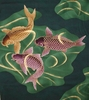"KOI ""CARP"": Green/Gold (Panel 24 Inches by 22 Inches)"