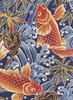 Koi in Rough Waters: Navy (1/2 Yd)