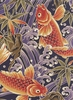 Koi in Rough Waters: Purple (1/2 Yd.)