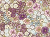 KOTORI COLLECTION:  Floating Blossoms - Orchid/Gold (1/2 Yd.)