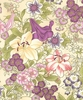 KOTORI COLLECTION: Flower Garden - Orchid/Gold (1/2 Yd.)