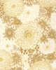 MAGNIFICENT CHRYSANTHEMUMS: Natural/Gold (1/2 Yd)