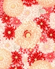 MAGNIFICENT CHRYSANTHEMUMS: Red/Gold (1/2 Yd.)